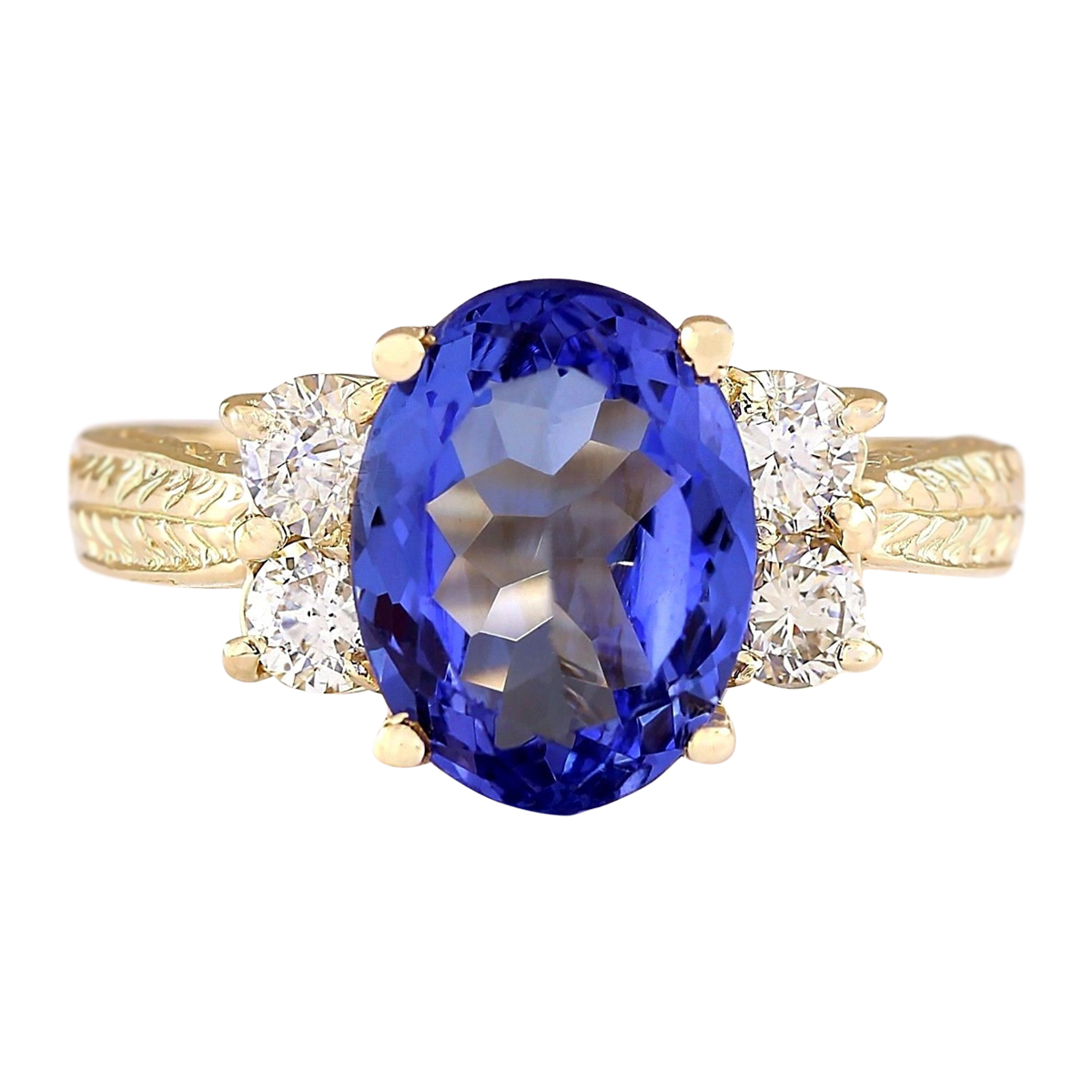 wedding engagement rings fullxfull il diamond natural blue ring gold deco gemstone band floral vs white tanzanite anniversary